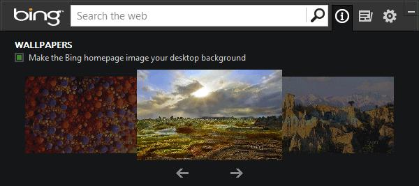 screen capture of Bing Desktop