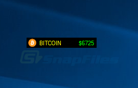 screen capture of BITCOIN ticker