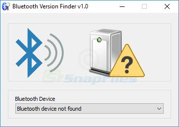 screenshot of Bluetooth Version Finder