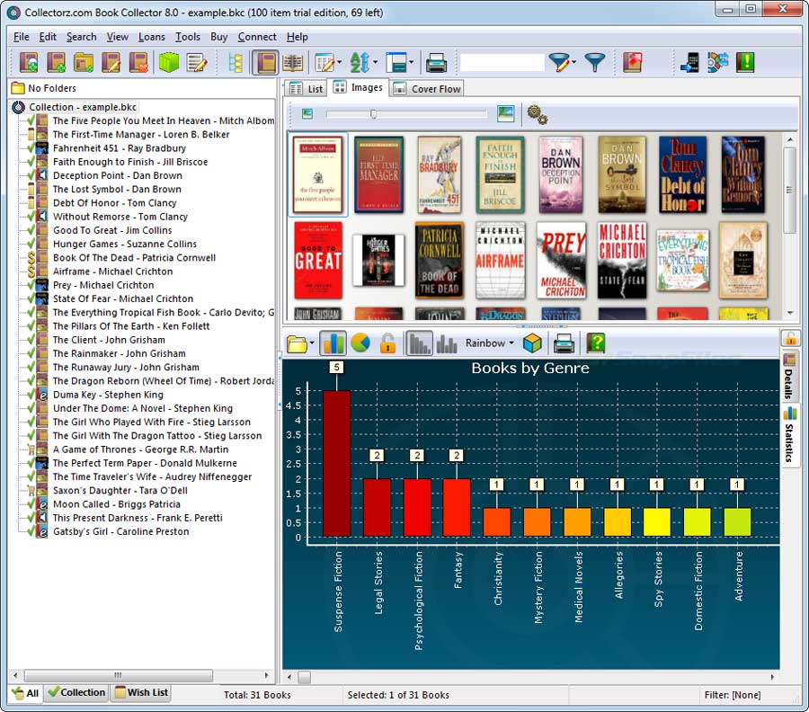 screenshot of Collectorz.com Book Collector