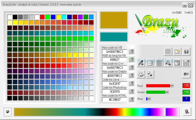 screen capture of BrazuColor