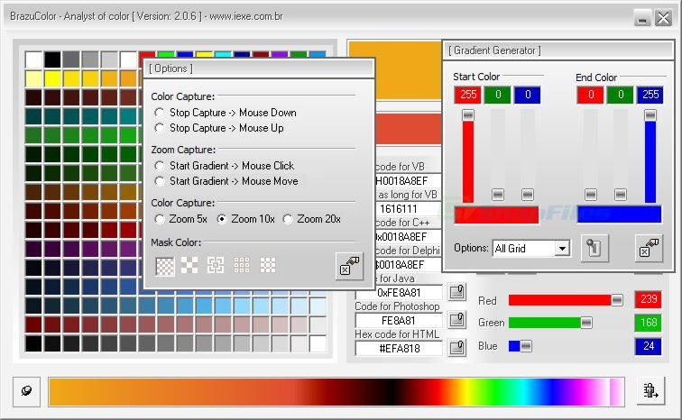 screenshot of BrazuColor