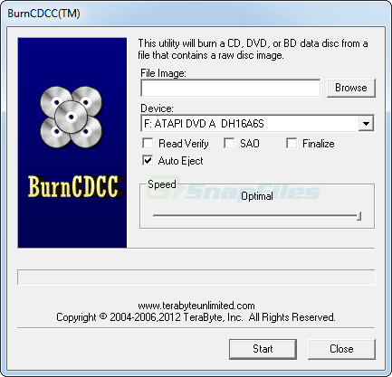screen capture of BurnCDCC