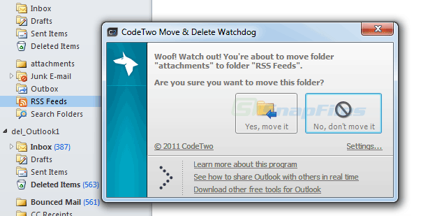 screen capture of CodeTwo Move and Delete Watchdog