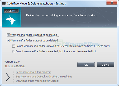 screenshot of CodeTwo Move and Delete Watchdog