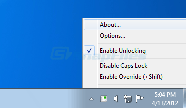 screenshot of CapsUnlocker