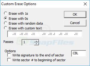 screenshot of CBL Data Shredder
