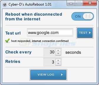screen capture of Cyber-D AutoReboot