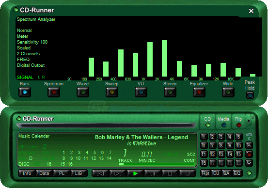 screen capture of CD-Runner