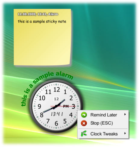 screenshot of CrossGL Reminder Clock