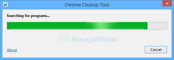 screen capture of Chrome Cleanup Tool