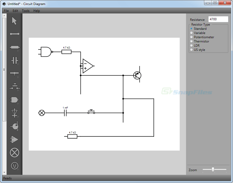 screen capture of Circuit Diagram