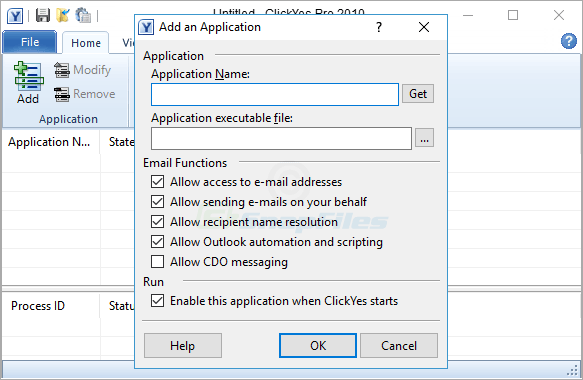 screenshot of ClickYes Pro