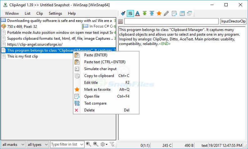 screen capture of ClipAngel