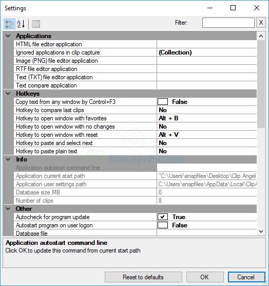screenshot of ClipAngel