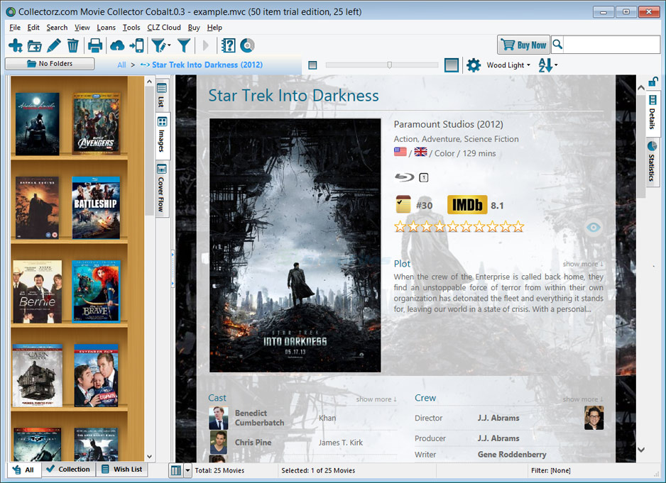 screen capture of Collectorz.com Movie Collector