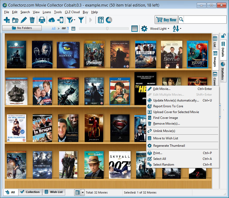 screenshot of Collectorz.com Movie Collector