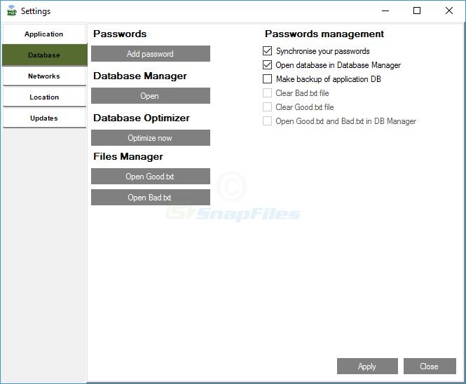 screenshot of CobraTek Wifi Manager