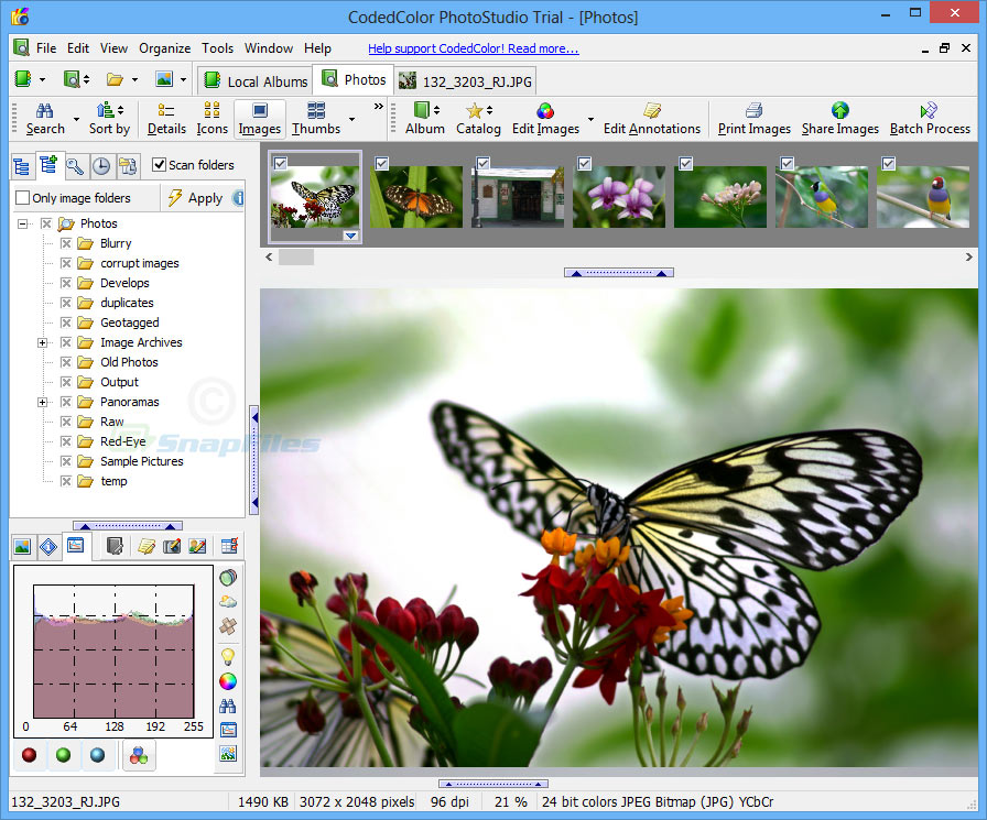 screen capture of CodedColor PhotoStudio Pro