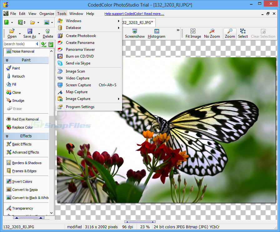 screenshot of CodedColor PhotoStudio Pro