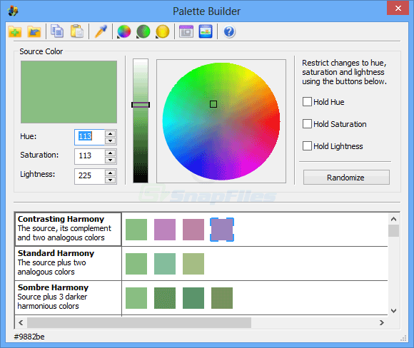 screen capture of ColorCache