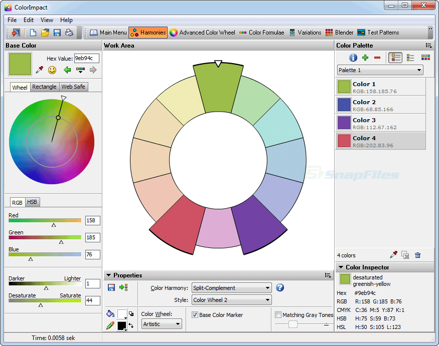 screen capture of ColorImpact