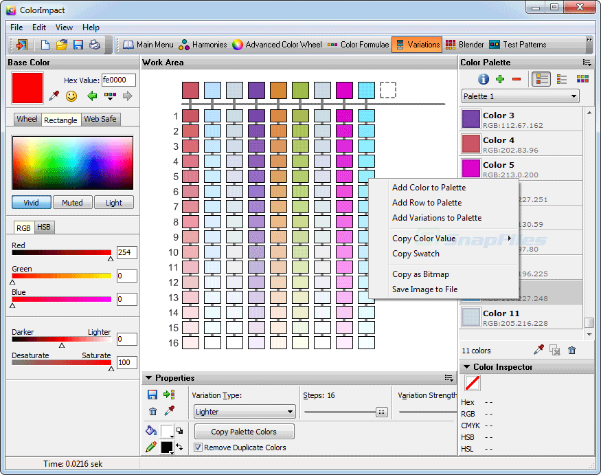 screenshot of ColorImpact