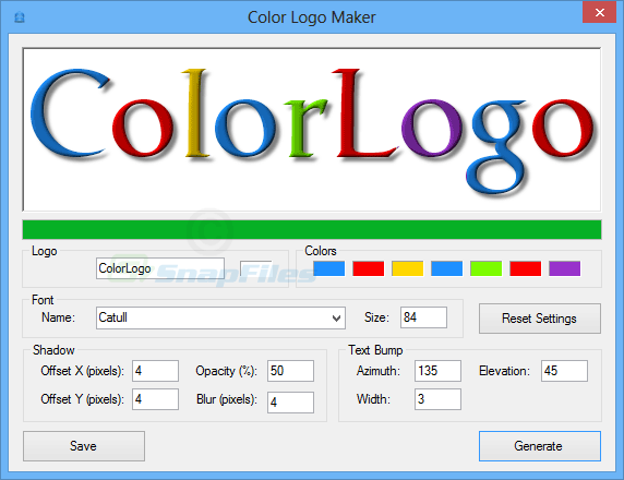 screen capture of Color Logo Maker