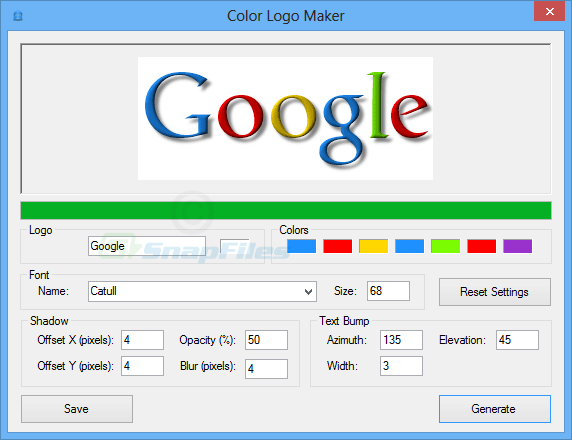 screenshot of Color Logo Maker