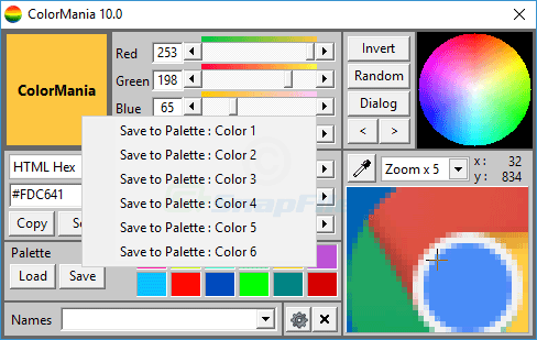 screenshot of ColorMania