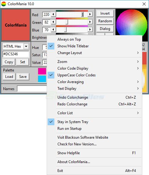 screenshot of ColorMania