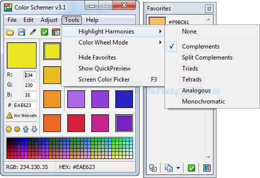 screenshot of Color Schemer
