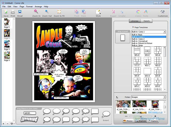 screenshot of Comic Life