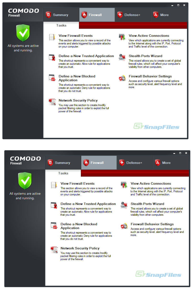 screenshot of Comodo Internet Security