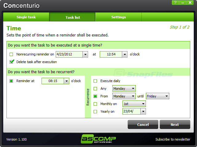 screenshot of Concenturio