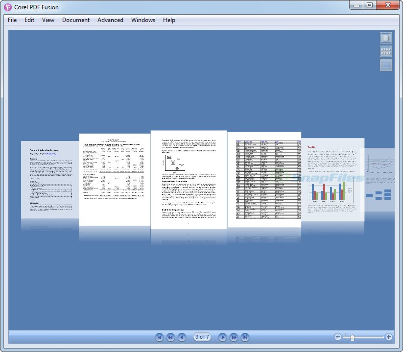 screenshot of Corel PDF Fusion