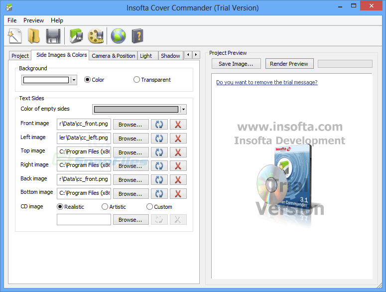 screenshot of Insofta Cover Commander