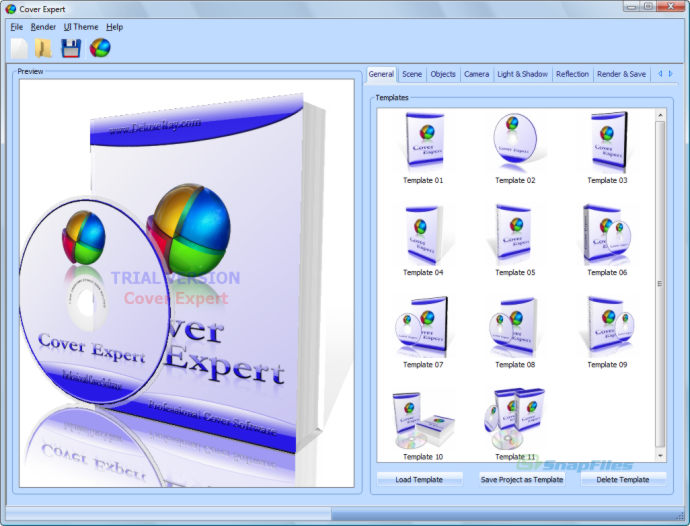 screen capture of Cover Expert