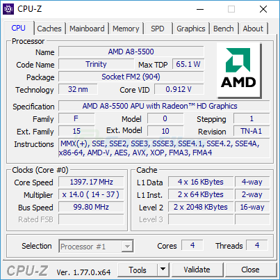 CPU-Z screenshot and download at SnapFiles com