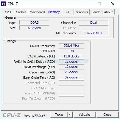screenshot of CPU-Z