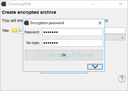 screenshot of CrococryptFile