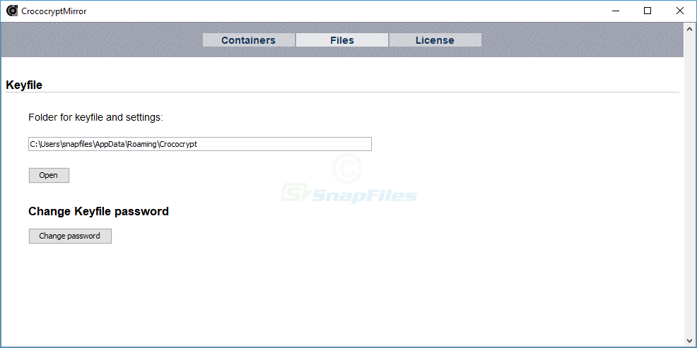 screenshot of CrococryptMirror
