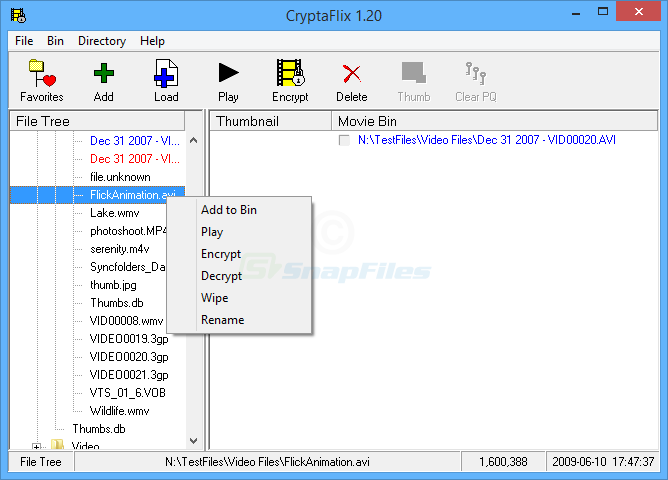 screen capture of CryptaFlix