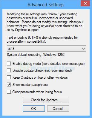 screenshot of Cryptnos