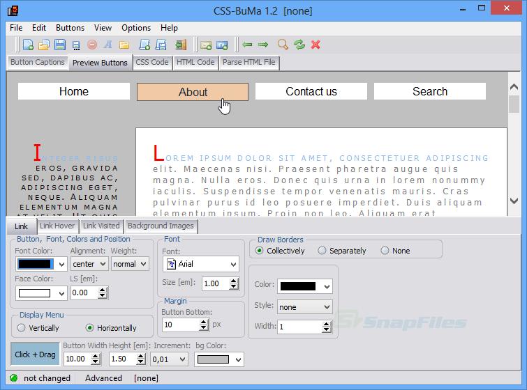 screenshot of CSS-BuMa