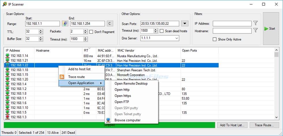 screenshot of cStatus