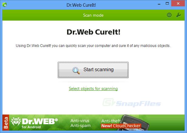 screen capture of Dr.Web CureIt