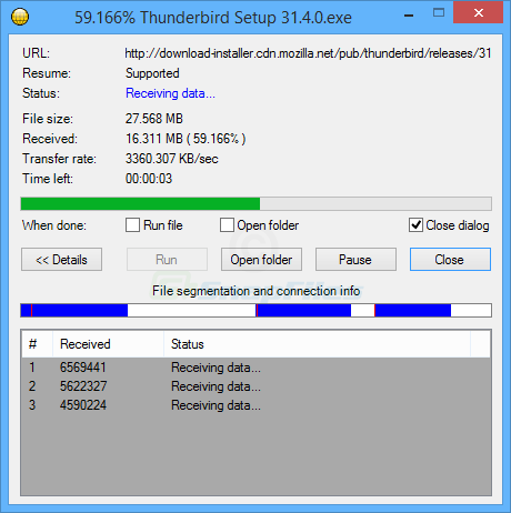 screenshot of Download Accelerator Manager