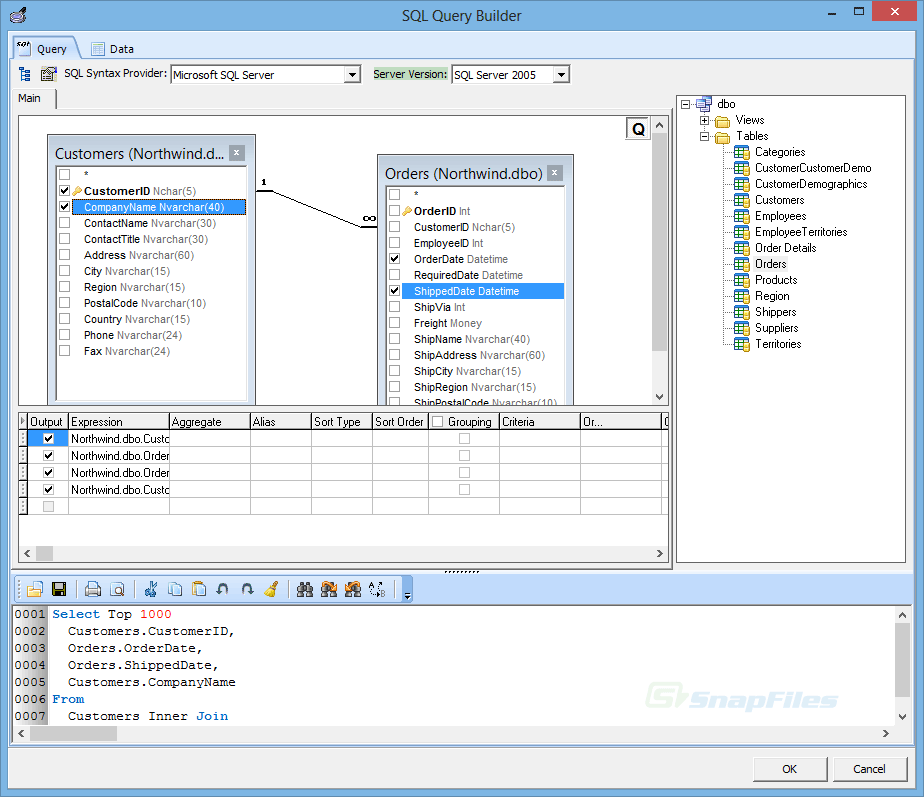 screenshot of Database Browser Portable