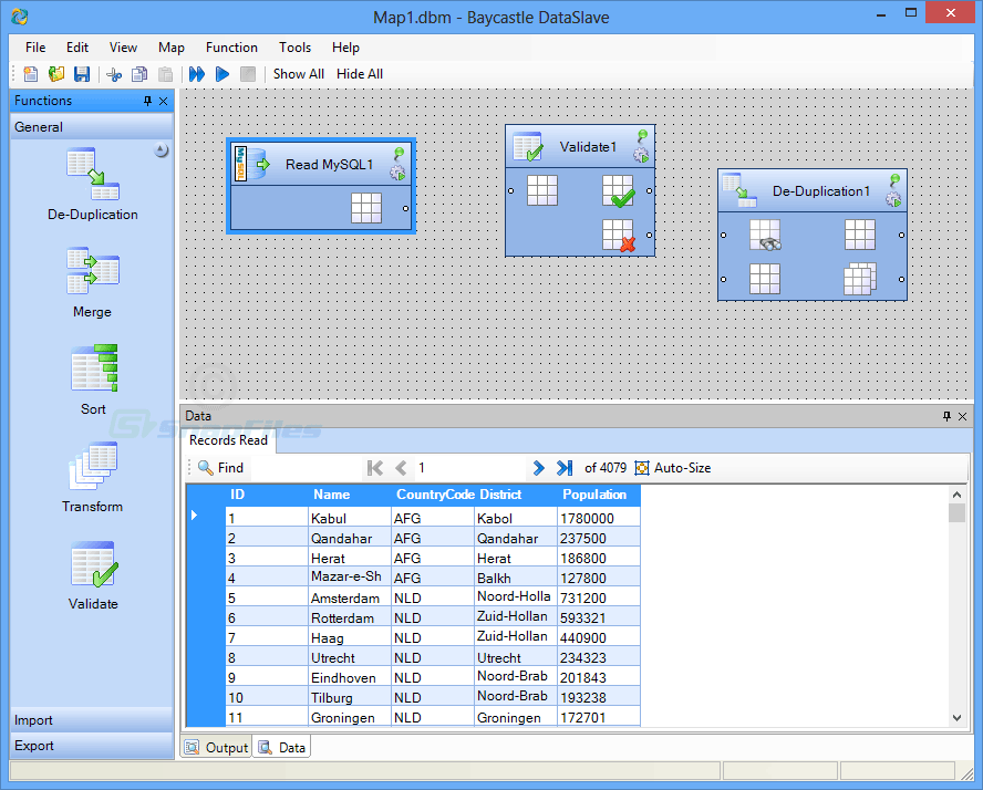 screenshot of DataSlave